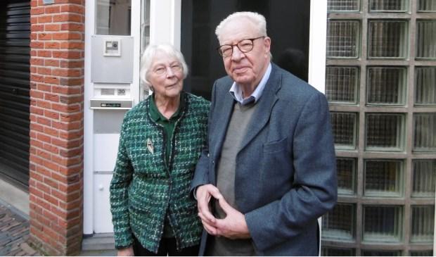 Anske en Jan Willem Vuijk, kritische senioren in de binnenstad.