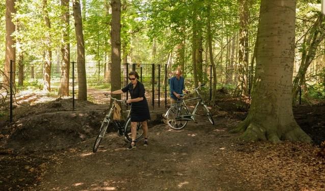 Fietsers mogen niet meer over een gedeelte van Landgoed Pijnenburg.