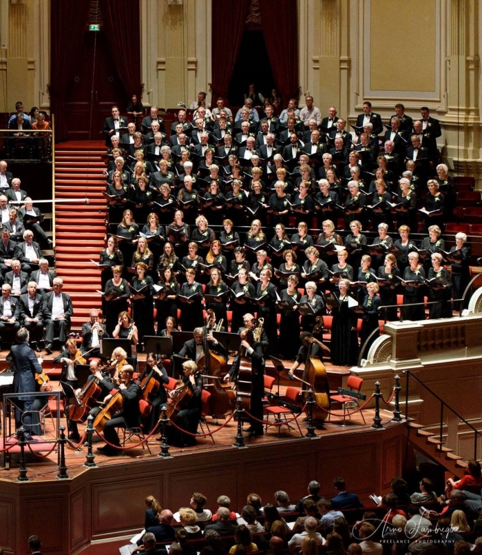 Jubilate Deo onlangs tijdens een optreden in het Amsterdams Concertgebouw Arno Lambregtse © BDU