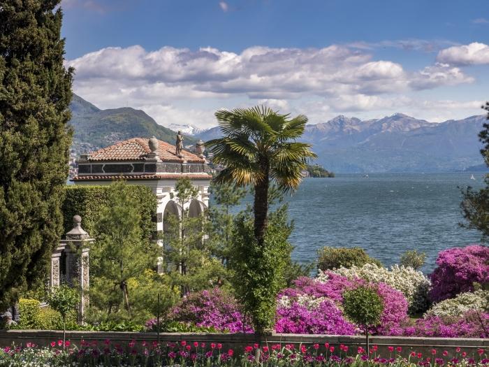 Eiland Isola Bella in het Lago Maggiore