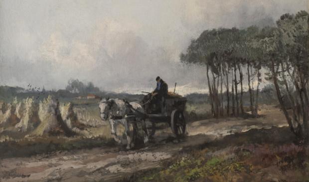 Cornelis de Bruin (1870-1940), Bij Soestdijk, 1918 - 1923. Olieverf op doek, 40 x 60 cm. Particuliere collectie.