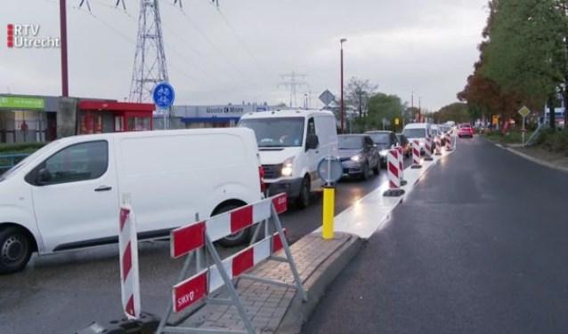 Verkeerschaos op Laagraven RTV Utrecht / Jordi de Jong © BDU media