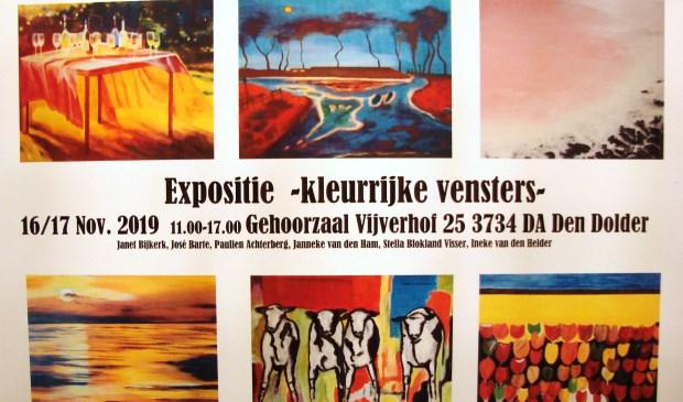 De tentoonstelling Kleurrijke Vensters