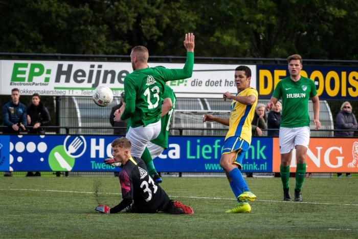 Deze wedstrijd kon Jonathan Martina het doel niet vinden. EJH Photography © BDU Media
