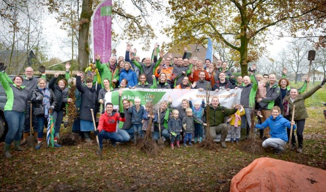 100 medewerkers van Bam planten 1000 bomen