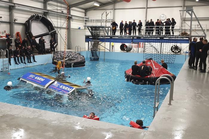 het training zwembad van Get Wet Maritiem Luke van der Steen © BDU Media