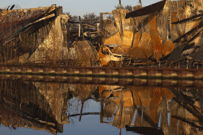 Afgebrande loods II. Willem ten Veldhuys © BDU media