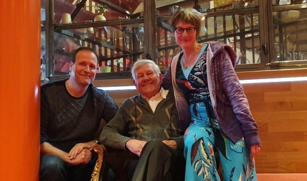 De drie organisatoren van Poëzie aan de Slinger, v.l.n.r. Danny Keff, Nico Croes, Anja Tekelenburg