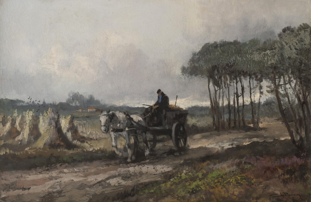 Cornelis de Bruin (1870-1940), Bij Soestdijk, 1918 - 1923. Olieverf op doek, 40 x 60 cm. Particuliere collectie. Cornelis de Bruin © BDU Media
