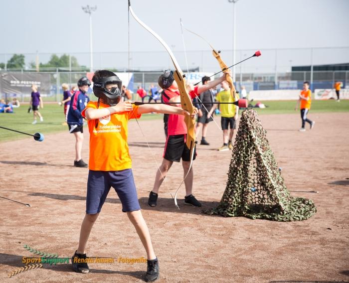 Kinderen in actie tijdens de Olympische Dag Haarlem Renata Jansen Fotografie © BDU media