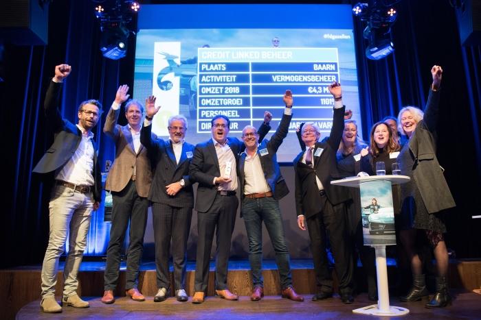Credit Linked Beheer winnaar van de FD Gazellen top 100. In het midden medeoprichter Eduardo Alvarez.