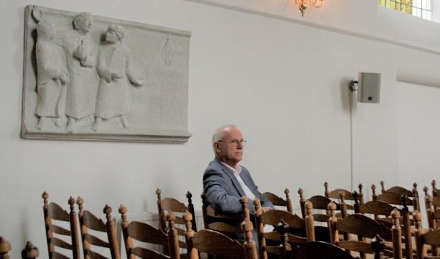"""Kees Visser werkte negen jaar in het Witte Kerkje. ,,De leeftijdsopbouw van deze gemeente is heel evenwichtig en dat maakt het een mooie plek om te werken."""""""