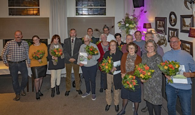 De winnaars van de tuinprijzen.