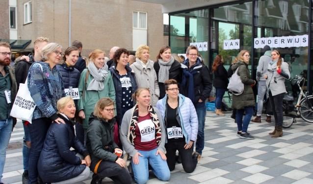 Leusdense leerkrachten uit het basisonderwijs voerden vorige week een protestactie.