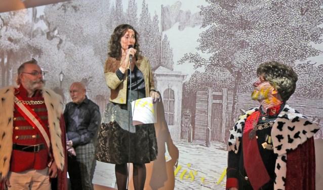 Pia Douwes tijdens haar openingsspeech