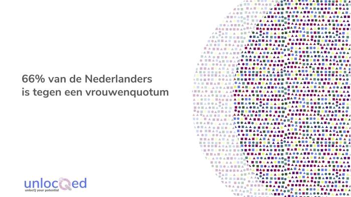 66% van de Nederlanders is tegen een vrouwenquotum