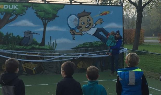 Opening Tennismuur SV Odijk Lucas Boerwinkel © BDU media