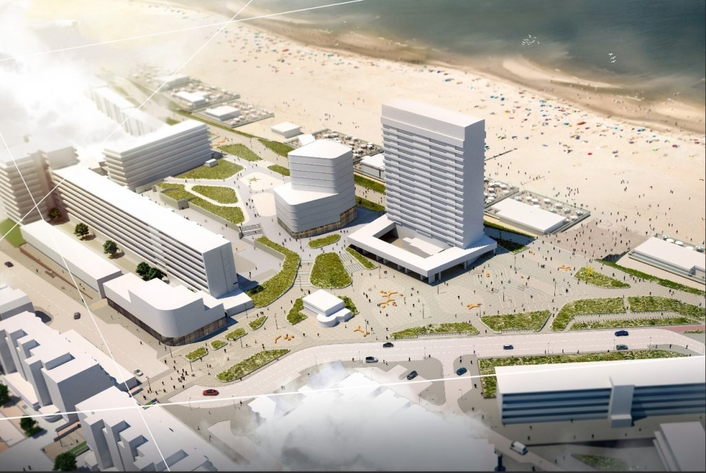 Schetsontwerp van de toekomst van het plein gemeente Zandvoort © BDU media