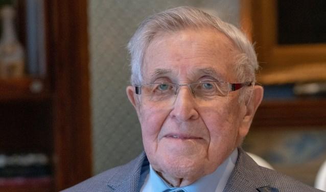 Jan Reinier van Poppelen tijdens zijn 96e verjaardag, februari vorig jaar.