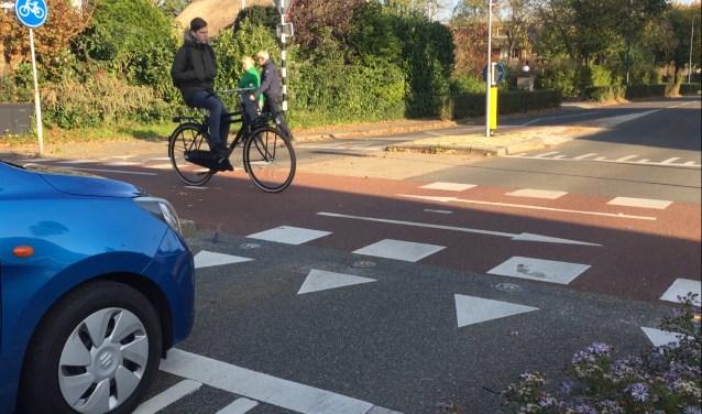 Bikescout bestaat uit een combinatie van een radar en LED-verlichting.