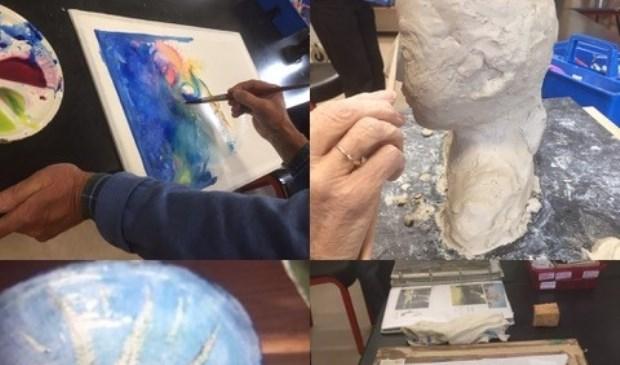 Creatief bezig zijn bij Kunst en Zorg