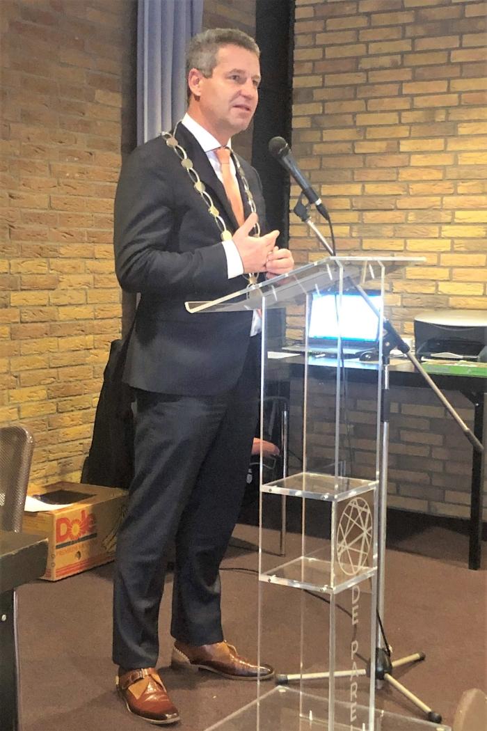 Burgemeester Heijkoop houdt zijn toespraak. Piet Trapman © BDU media