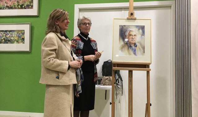 Eerbetoon aan Ton Albers. Het portret is van de hand van Margo Pasman.