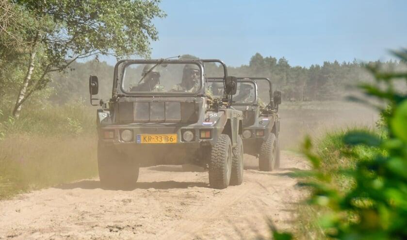Een landmachtoefening in 2018 in Ede.