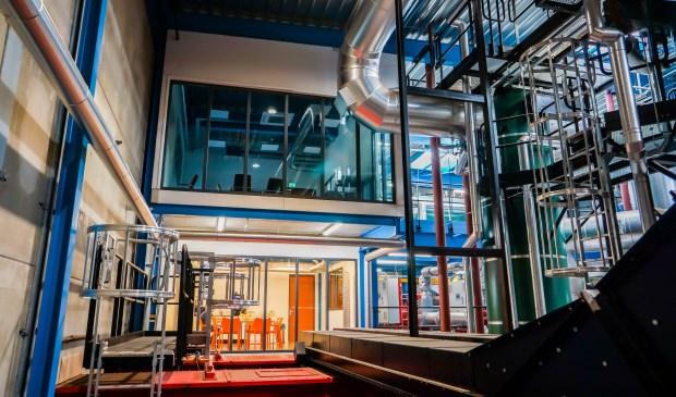 Interieur van de biomassacentrale aan de Geerweg in de Edese wijk Park Reehorst.