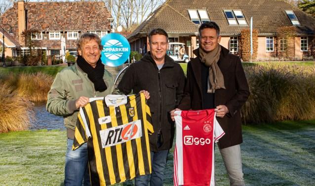 Piet de Wit links, Peter Bergervoet eigenaar van Topparken en Hans van Arum.