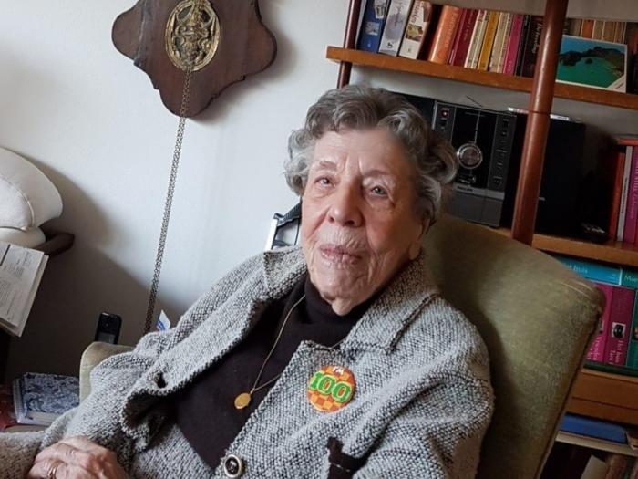 100 jarige Mw. Smits - Kromwijk