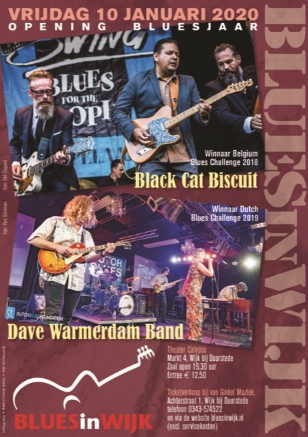 Dave Warmerdam en Black Cat Biscuit BluesinWijk © BDU media