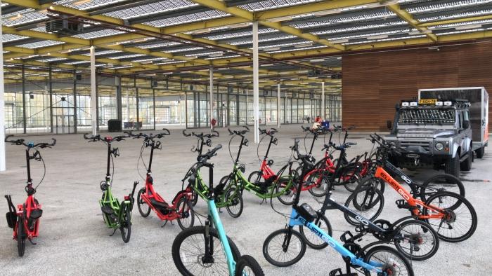 staand fietsen in Expo Haarlemmmermeer