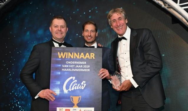 De directie Claus Company: van links af af: Daniel Kaan, Alexander Claus en Rick Claus.