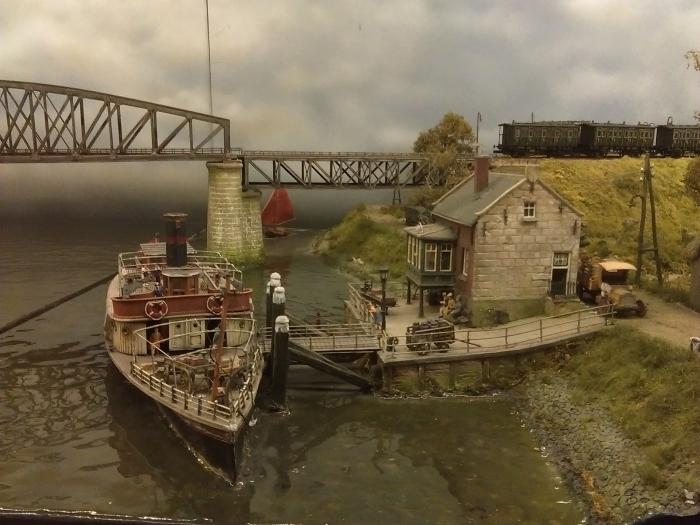 Een klein onderdeel van het diorama