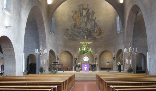 <p>Kerst in de Barbarakerk in Bunnik, in 2019, toen het nog mocht</p>