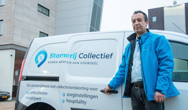 Moustafa Hanifi rijdt vanaf deze maand door Amersfoort voor Stomerij Collectief.
