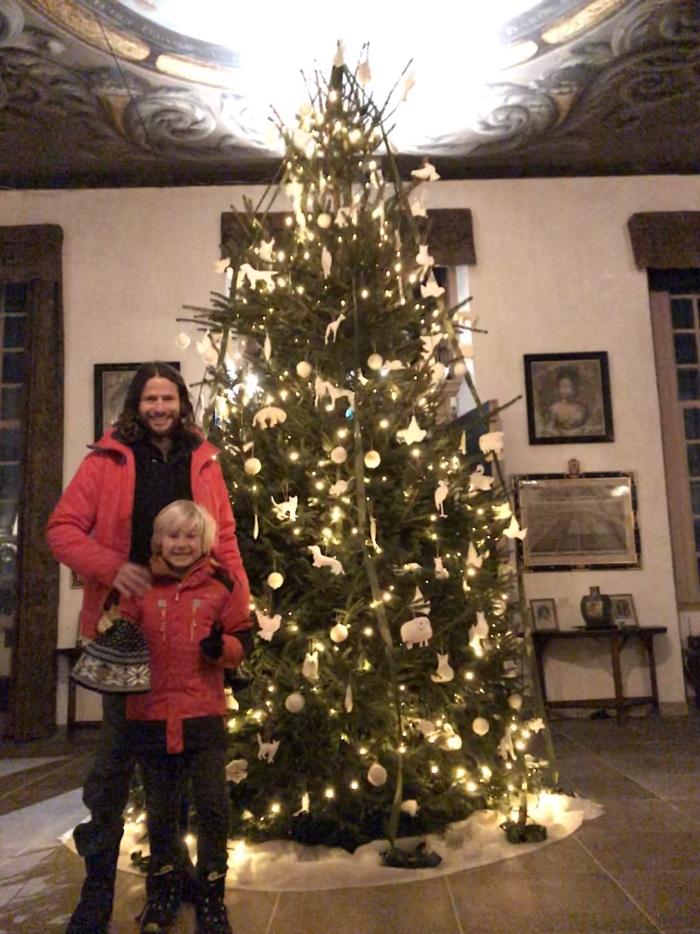 De deftige dieren kerstboom