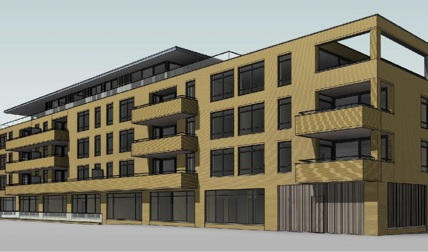 Plan voor bouw van 25 appartementen aan Texelstraat.