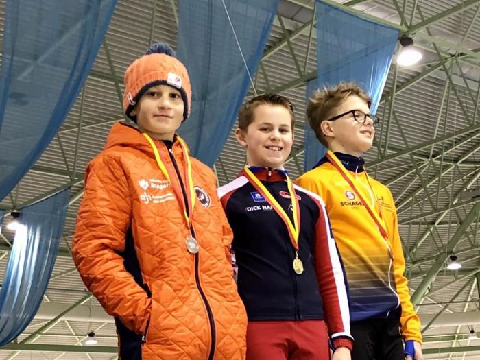Niels Hiddink won bij de pupillen C