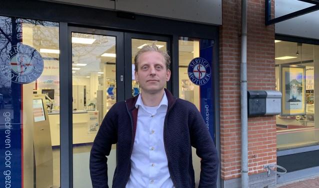 Apotheker Klaas Kooistra, woordvoerder van de initiatiefnemers voor een gezondheidscentrum in Leersum.