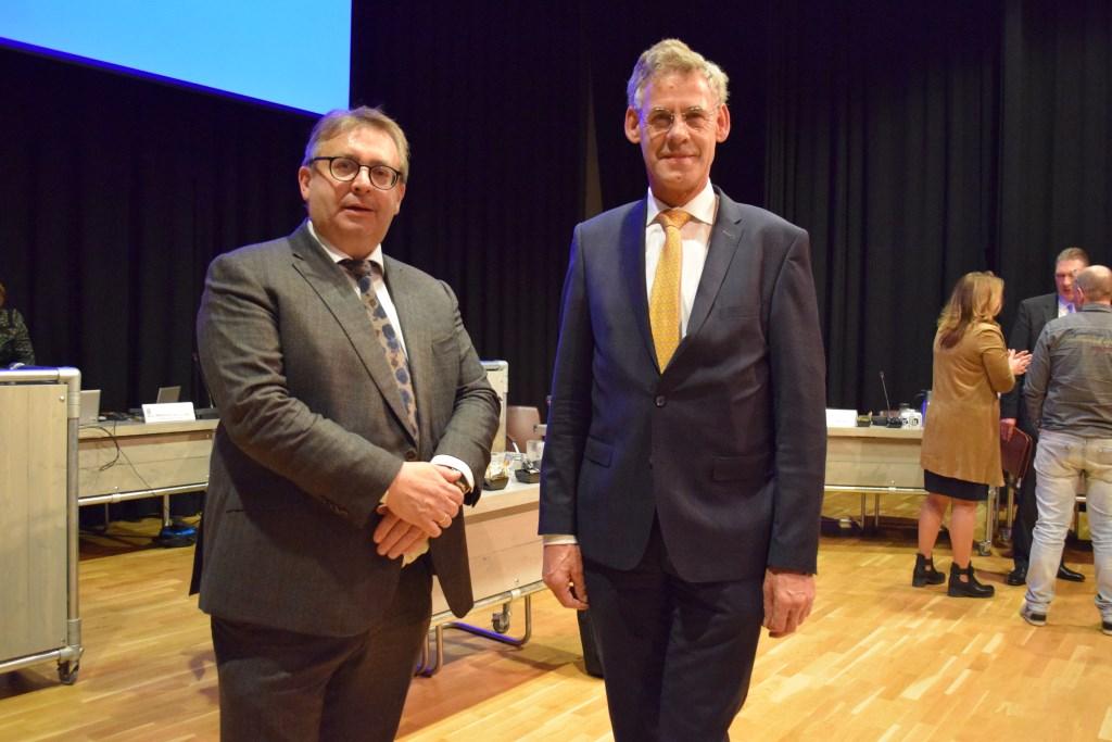 De beoogde kandidaat-wethouders van SGP-huize met links Gerard van Deelen en rechts Izaak van Ekeren. Edward Doelman © BDU media