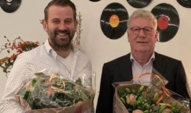De nieuwe en de oude voorzitter van afdeling Amstelland: Daan Kroone en Hans Gort.