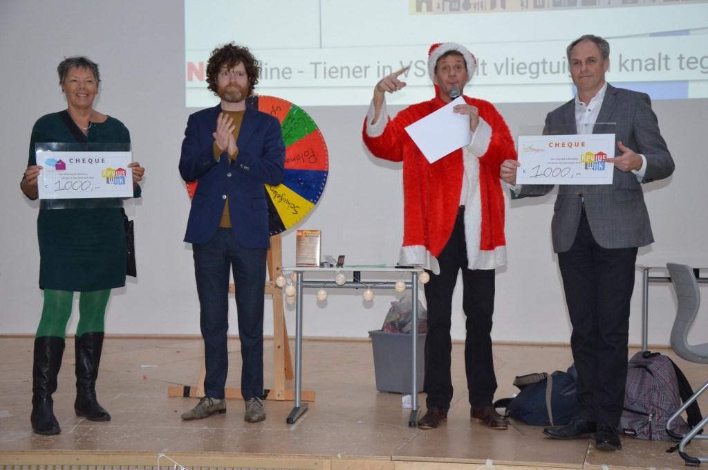 Een cheque voor het Droomhuis en Jong Wijk in Beweging Ali van Vemde © BDU media