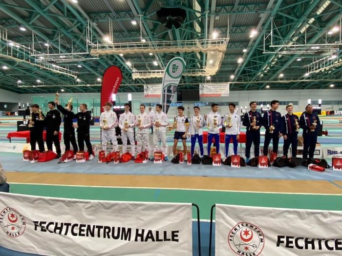 Podium International Händel-Cup U17 European Circuit  Ron Driessen © BDU media