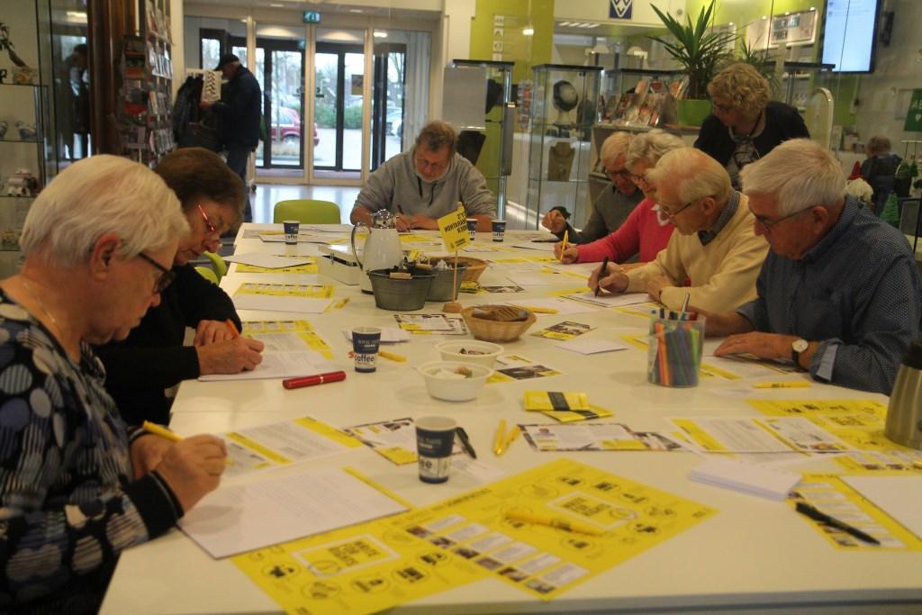 In Woudenberg werden 340 brieven en 175 kaarten verstuurd.