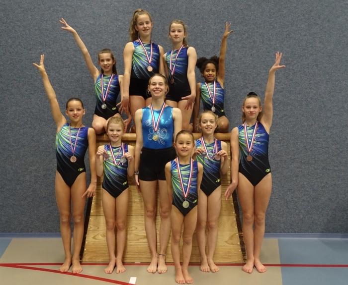 De medaillewinnaars van VITA 2000 Baarn