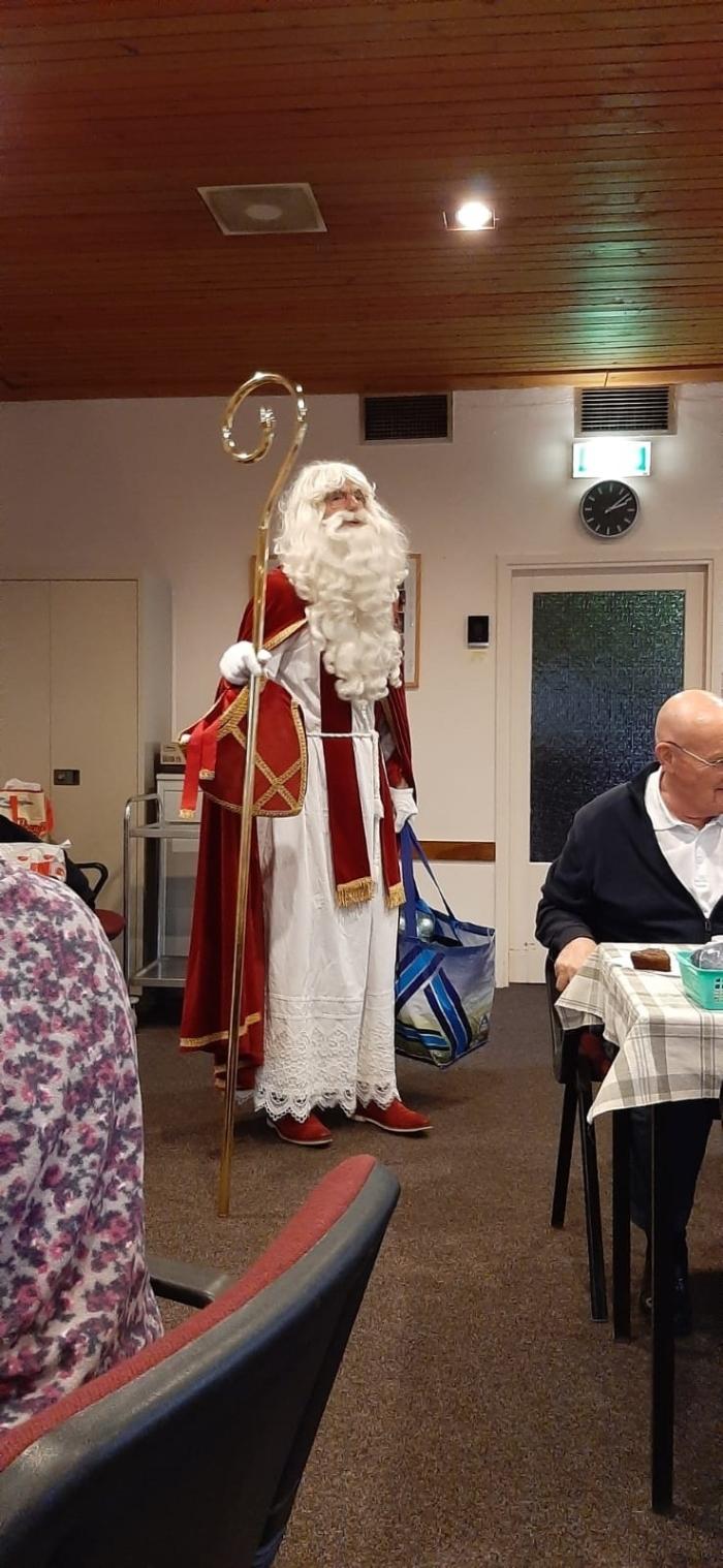Sinterklaas bezoekt bingo Zonnebloem Doorn W. Schouten © BDU