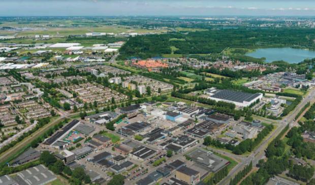 <p>Het huidige bedrijventerrein Legmeer</p>