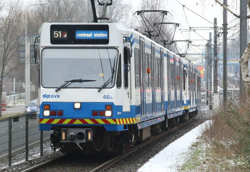 De sneltrams van lijn 51 verdwijnen per 3 maart definitief van de Amstelveenlijn. René de Leeuw © BDU media
